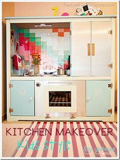 Just about the CUTEST DIY Kid's Kitchen