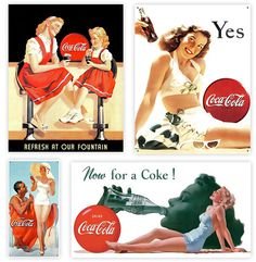 Coca Cola Vintage Advertising posters are amazing!