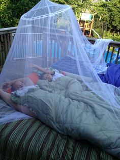 Backyard/Deck camping under the stars - a must-do this summer!                                                                                                                                                                                 More