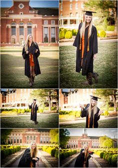 stillwater oklahoma oklahoma state university senior portrait photographer captured by karly Girl Graduation Pictures, Graduation Picture Poses, College Graduation Pictures, Graduation Portraits, Graduation Photoshoot, Graduation Photography, Grad Pics, Senior Photography, Senior Pics