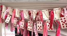 Valentine's Day Heart Cards Garland - Happiness is Homemade valentines day party dekor Valentine's Day Heart Cards Garland Valentines Day Hearts, Valentine Day Crafts, Vintage Valentines, Love Valentines, Homemade Valentines Day Cards, Valentine Tree, Printable Valentine, Saint Valentine, Valentine Ideas