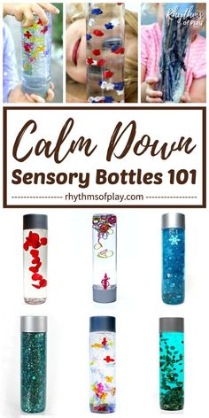 DIY Sensory Bottles 101 - These beauties are used as portable, no-mess, safe, sensory play. Sensory Boards, Sensory Bins, Sensory Activities, Toddler Activities, Diy Sensory Toys For Toddlers, Diy Toys For Babies, Sensory Bottles Preschool, Sensory Play For Babies, Baby Sensory Bottles