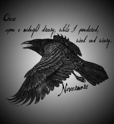 The Raven by Edgar Allan Poe Edgar Allan Poe, Edgar Allen Poe Tattoo, Edgar Allen Poe Quotes, Raven Quotes, The Raven Poem, Lit Quotes, Story Quotes, Poem Tattoo, Quoth The Raven