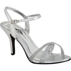 Fashionable Contrast Colour Ankle Strap High Heel Sandals | Silver ...
