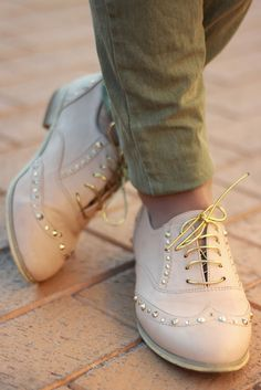 oxford shoes and khaki