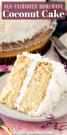 A buttery-soft coconut cake made with my grandmother's old-fashioned classic icing! Make sure to SAVE this classic cake recipe! A vanilla cake base covered with silky icing and coconut. Easy Icing Recipe, Easy Cake Recipes, Cupcake Recipes, Baking Recipes, Cupcake Cakes, Dessert Recipes, Cake Base Recipe, Cupcakes, Coconut Cake Easy