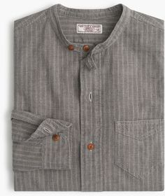 Like this shurt Best Casual Shirts, Formal Shirts, Kurta Designs, Collarless Shirt Men, Denim Shirt Men, Men Shirts, Banded Collar Shirts, Style Masculin, Retro Mode