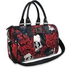 Rosary Crossbody Handbag from Liquorbrand at Beadesaurus | Free UK... ($35) ❤ liked on Polyvore featuring bags, handbags, shoulder bags, red handbags, handbags shoulder bags, red cross body purse, handbags crossbody and red hand bags