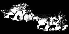 Wall Painting Decor, Dot Painting, Painting Snow, Silhouette Painting, Silhouette Vector, Silhouette Cameo Projects, Tree Stencil, Jar Art, Shadow Art