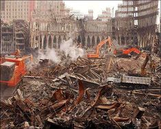 Buy the World Trade Center Site Debris Removal Photo Print for sale at The McMahan Photo Art Gallery and Archive. World Trade Center Site, Debris Removal, Photo Art Gallery, Somewhere In Time, Building Structure, Never Forget, Destruction, The Dreamers, Skyscraper