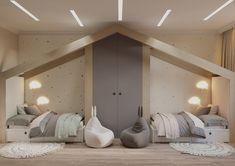 CHILDREN'S - Галерея 3ddd.ru Small Room Design Bedroom, Modern Kids Bedroom, Teen Bedroom Designs, Kids Bedroom Furniture, Kids Room Design, Bed Design, Baby Room Decor, Bedroom Decor, Small Girls Bedrooms