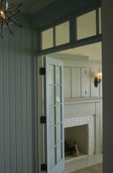 doors, transom, fireplace, sconce