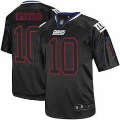 0680d164f Shop for OfficialNFL Mens Elite Nike New York Giants  10 Eli Manning Lights  Out Black