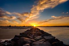 Evgeny Yorobe got this fantastic shot of a San Diego sunrise, taken from the Mission Beach jetty...  His photo was featured on 10 News Meteorologist Pat Brown's fb page...  Perfect positioning and timing!  #Evgeny Yarobe Photography