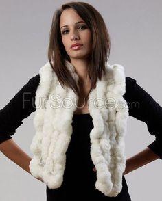 Fur Scarf - White Rex Rabbit Fur Mink Jacket, Rabbit Fur Coat, Rex Rabbit, Fur Rug, Fur Blanket, Mink Fur, Fur Scarves, Design, Fashion