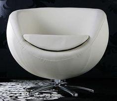 fotel obrotowy biały