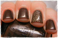 opi my favorite ornament | All Sparkly and Gold is fantastic with this lacquer. This is the ...