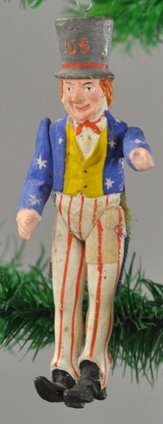 WHIMSICAL UNCLE SAM CHRISTMAS TREE ORNAMENT