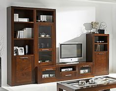 1000 images about mueble tv on pinterest tvs wall - Baldas de madera ...