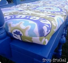 DIY boxed pillow cushion for window seat under dormer.how to sew the corners. Window Seat Cushions, Patio Cushions, Window Seats, Patio Chairs, Adirondack Chairs, Lounge Chairs, Box Cushion, Cushion Covers, Making A Bench