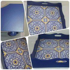 Bandeja feira com azulejo português