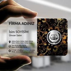 Avukat ve Hukuk Bürosu Şeffaf Kartvizit Tasarımı