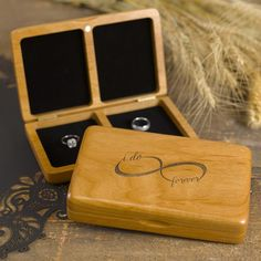 Infinity Wooden Wedding Ring Box