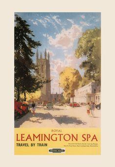 ENGLAND TRAVEL Poster LEAMINGTON Spa by EncorePrintSociety