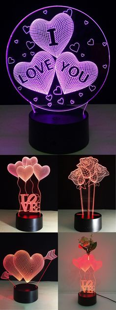 Up to 80% off, Rosewholesale Colorful Valentine Birthday Gift 3D Visual Colorful LED Touch Night Light | Rosewholesale, rosewholesale.com,rosewholesale crafts,rosewholesale home decor,crafts and diy,leg lights,valentine,birthday,gifts | #rosewholesale #crafts #valentinesday  #NewYear