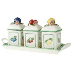 Villeroy & Boch French Garden Charm Jam Set with Tray-01
