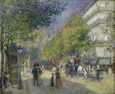 Les Grands Boulevards, 1875.  Renoir