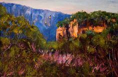 'Blue Mountains View' by Georgia Mansur, acrylic on paper, half sheet. email  georgia@georgiamansur.com for details. http://www.georgiamansur.com