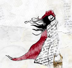 Windblown Lil' Red in mixed media is a beauty. Art Journal Inspiration, Creative Inspiration, Mixed Media Art, Mix Media, Magazine Collage, Illustration Art, Art Illustrations, Creative Skills, Affordable Art