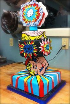 Roy Lichtenstein pop-art cake unfinished