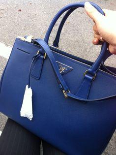Prada Saffiano Tote BN2274 - Blue
