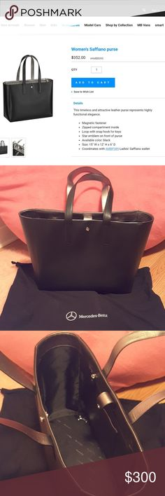 Mercedes-Benz Women's Saffiano purse Brand new authentic with original dust bag, never use, no scratch, no smell, in perfect condition. *does not come with a key charm. Retail $352. Perfect gift for Mercedes lovers and collectors. Bags Totes