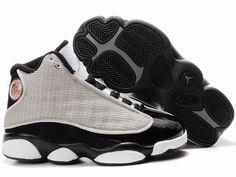 check out 07de1 28e2c Air Jordan 13 Kids Shoes White Black Grey