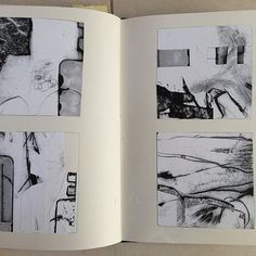 Using copied elements of a previous print to create new compositions in my sketchbook One thing leads to another... London artist Alice Sheridan