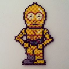C3PO Star Wars hama perler beads by colorshock2013