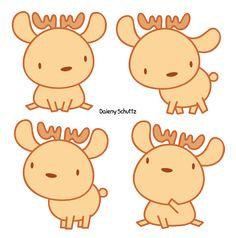 Little Reindeer by Daieny.deviantart.com on @DeviantArt