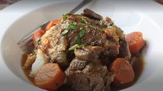 This is a fabulous recipe to use to make your pot roast...the only extra thing that I do is season each side of the roast with Montreal Steak Seasoning and then I sear each side. After that, it all goes in the crock pot (aka my favorite kitchen accessory)