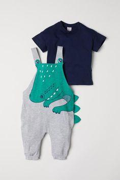 c4753ec1dc Bib Overalls and T-shirt - Light gray crocodile - Kids
