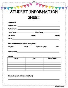 parent information sheets on pinterest clip charts classroom management and classroom. Black Bedroom Furniture Sets. Home Design Ideas