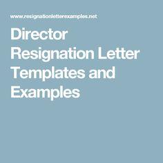 Board Resignation Letter Example  Resignation Letter Letter