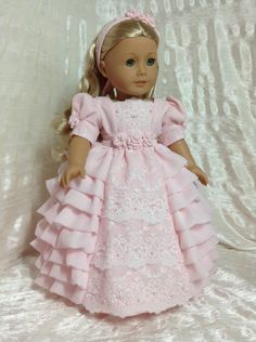 Regency gown for Caroline. by DollSizeDesigns on Etsy, $239.00