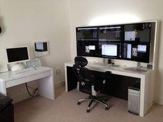 "Photo of Adam Matthews' desk: My New 6 X 27"" Desk.:"