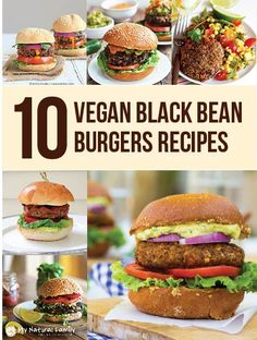 Beans are a staple of life in a lot of countries and a lot of diets. They are healthy and hearty and rather inexpensive but what to do with them? Make black bean burgers! Yes, I have a list of 10 vegan black bean burgers recipes. Vegan Foods, Vegan Dishes, Vegetarian Recipes, Healthy Recipes, Vegan Burger Recipes, Bean Recipes, Going Vegan, Whole Food Recipes, The Best