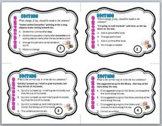 Worksheet Revise And Edit Worksheets quizes task cards and writing on pinterest free revising editing with worksheet