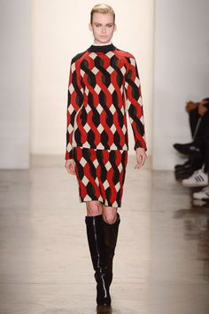 Louise Goldin fall '13: red print knits