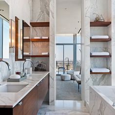 Marble Bathroom Modern Design Ideas, Pictures, Remodel, and Decor - page 2